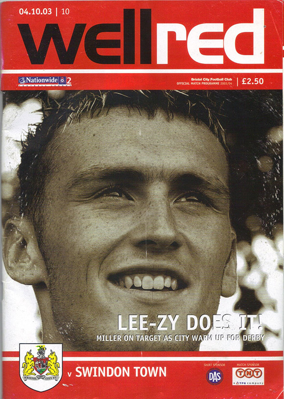 Saturday, October 4, 2003 - vs. Bristol City (Away)