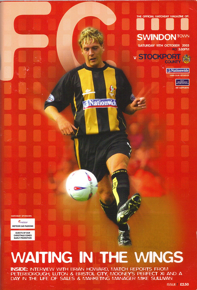 Saturday, October 11, 2003 - vs. Stockport County (Home)