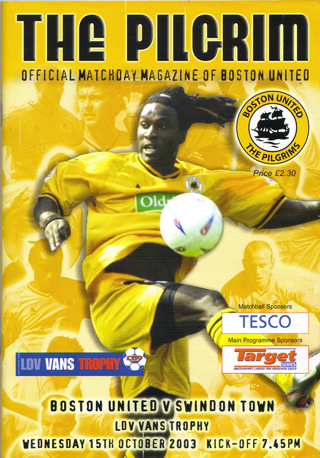 Wednesday, October 15, 2003 - vs. Boston United (Away)