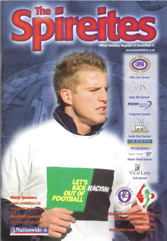 Saturday, October 18, 2003 - vs. Chesterfield (Away)