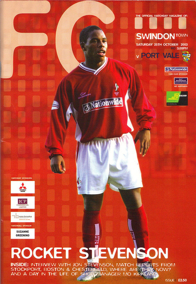 Saturday, October 25, 2003 - vs. Port Vale (Home)