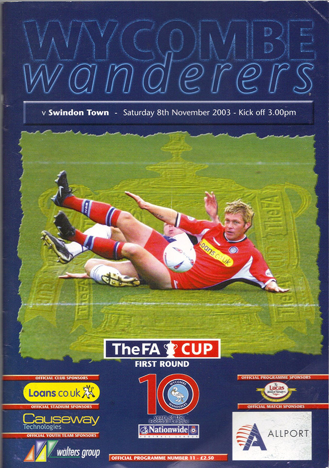 Saturday, November 8, 2003 - vs. Wycombe Wanderers (Away)