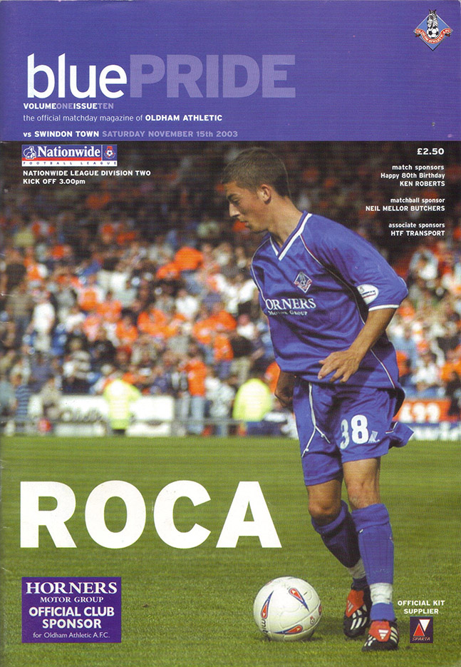 Saturday, November 15, 2003 - vs. Oldham Athletic (Away)