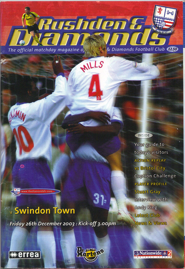 Friday, December 26, 2003 - vs. Rushden and Diamonds (Away)