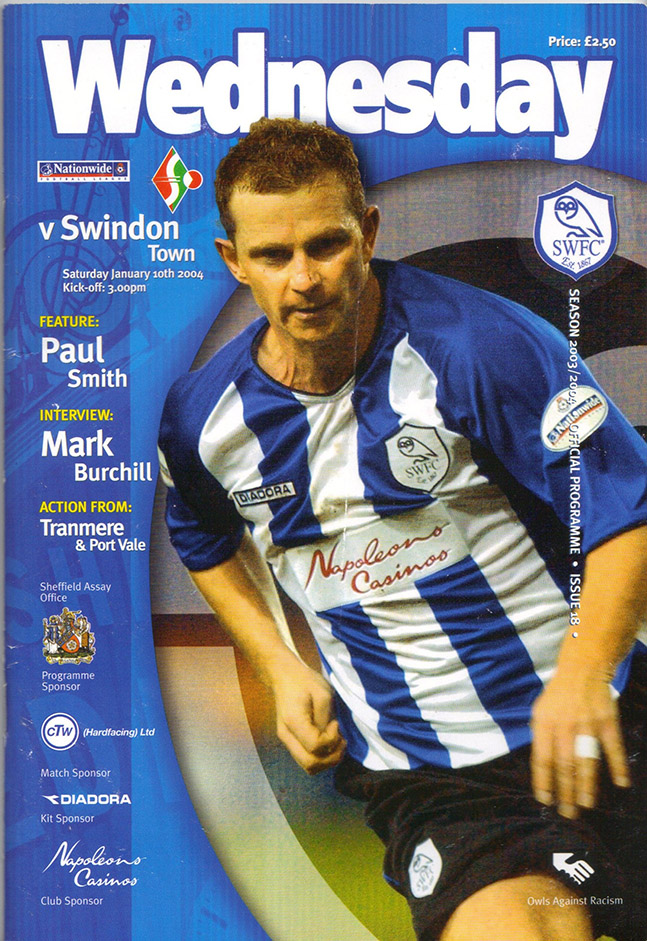 Saturday, January 10, 2004 - vs. Sheffield Wednesday (Away)