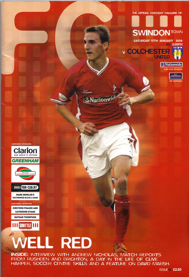 Saturday, January 17, 2004 - vs. Colchester United (Home)