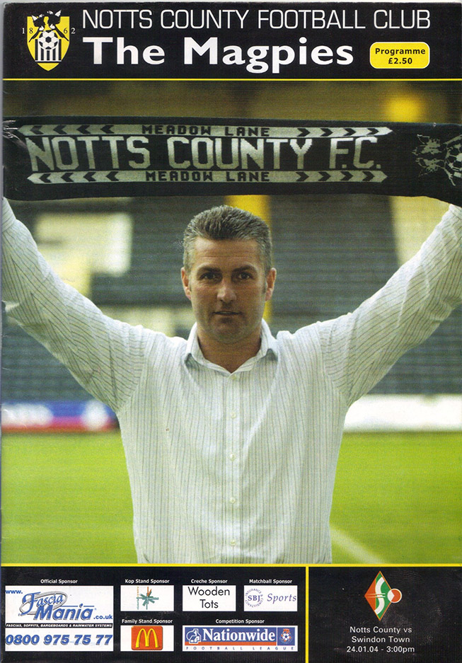Saturday, January 24, 2004 - vs. Notts County (Away)