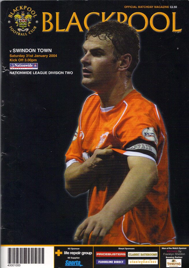 Saturday, January 31, 2004 - vs. Blackpool (Away)