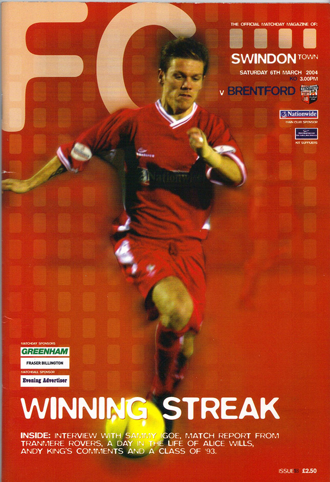 Saturday, March 6, 2004 - vs. Brentford (Home)
