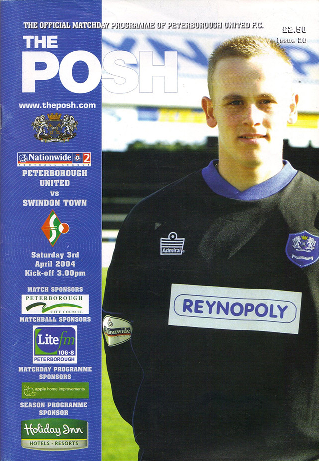 Saturday, April 3, 2004 - vs. Peterborough United (Away)