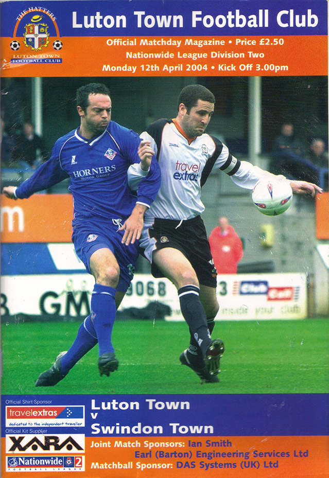 Monday, April 12, 2004 - vs. Luton Town (Away)