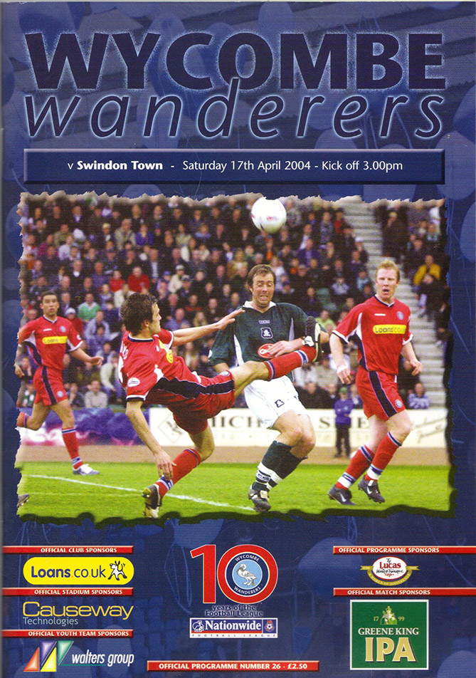 Saturday, April 17, 2004 - vs. Wycombe Wanderers (Away)