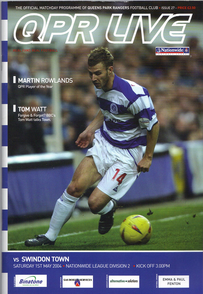 Saturday, May 1, 2004 - vs. Queens Park Rangers (Away)