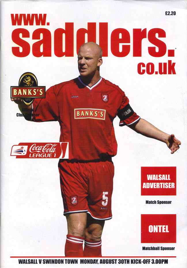 Monday, August 30, 2004 - vs. Walsall (Away)