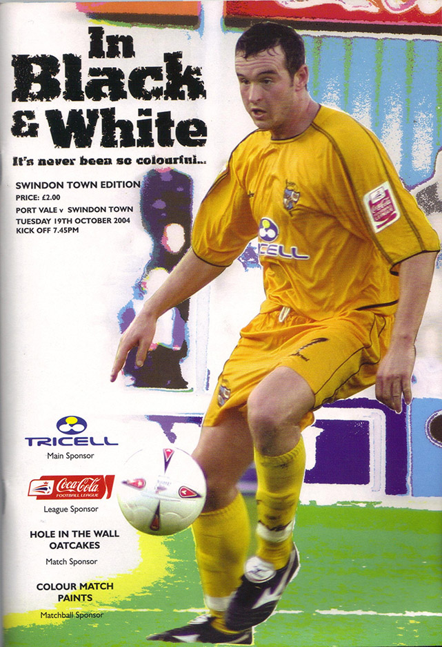 <b>Tuesday, October 19, 2004</b><br />vs. Port Vale (Away)
