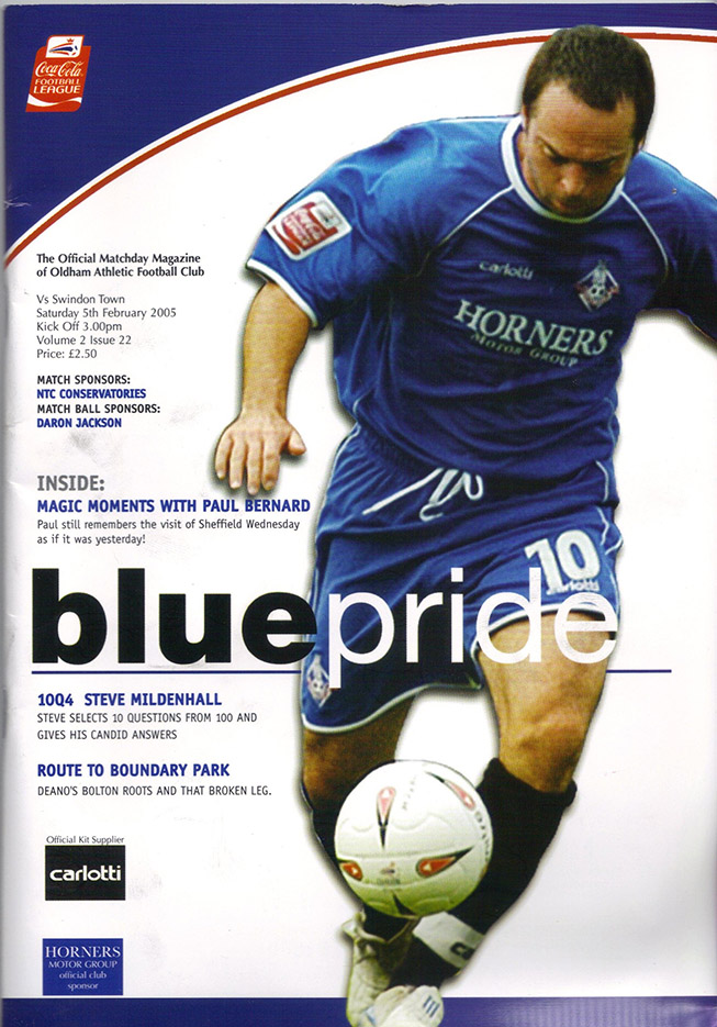 Saturday, February 5, 2005 - vs. Oldham Athletic (Away)