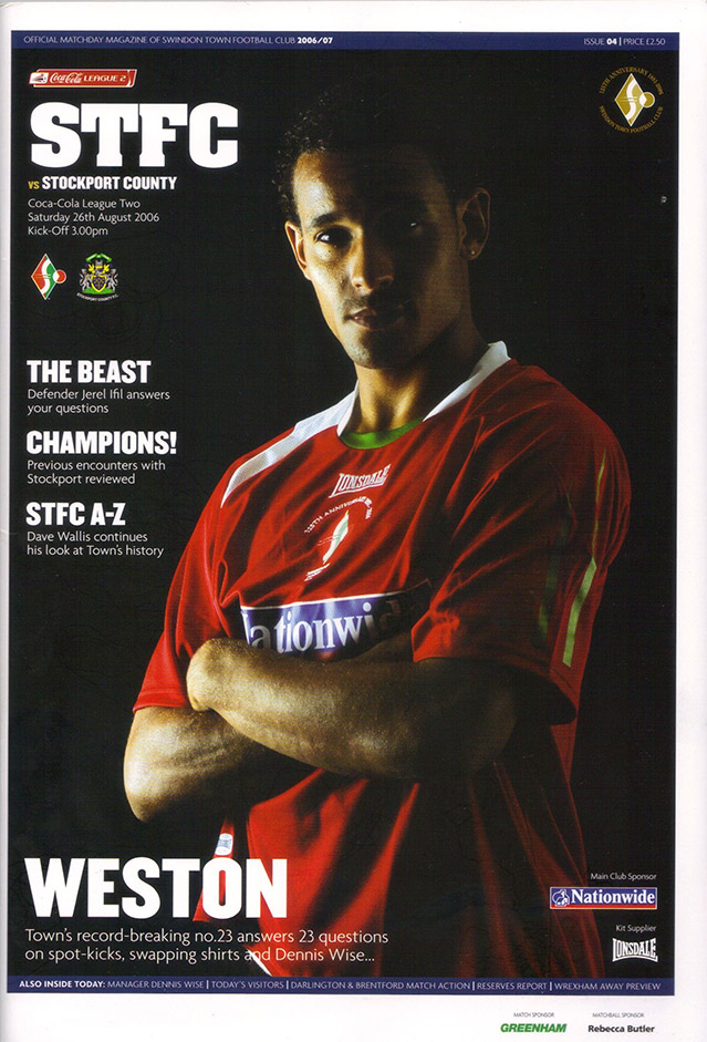 Saturday, August 26, 2006 - vs. Stockport County (Home)