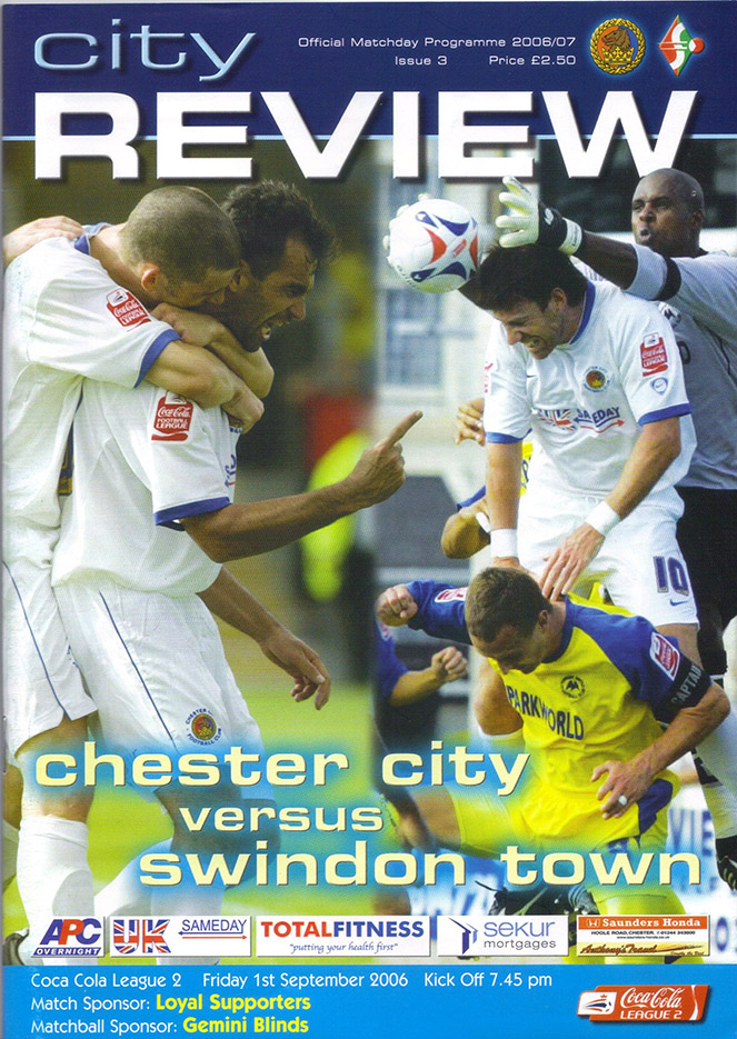 Friday, September 1, 2006 - vs. Chester City (Away)
