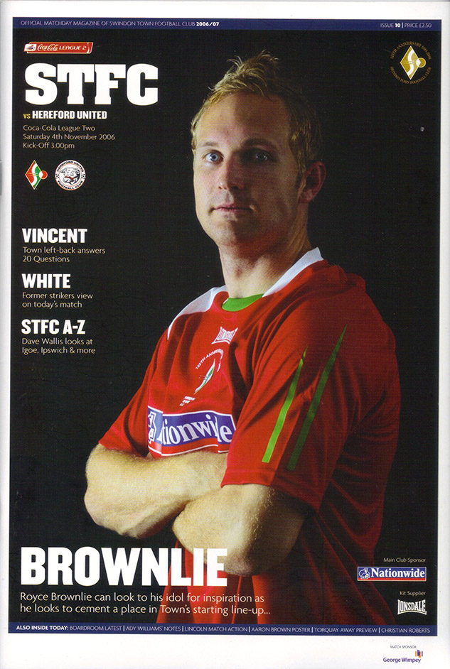 Saturday, November 4, 2006 - vs. Hereford United (Home)