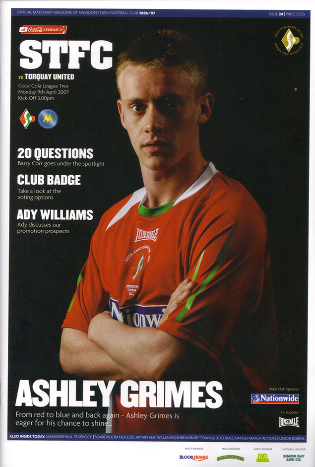 Monday, April 9, 2007 - vs. Torquay United (Home)