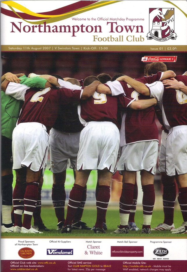 Saturday, August 11, 2007 - vs. Northampton Town (Away)