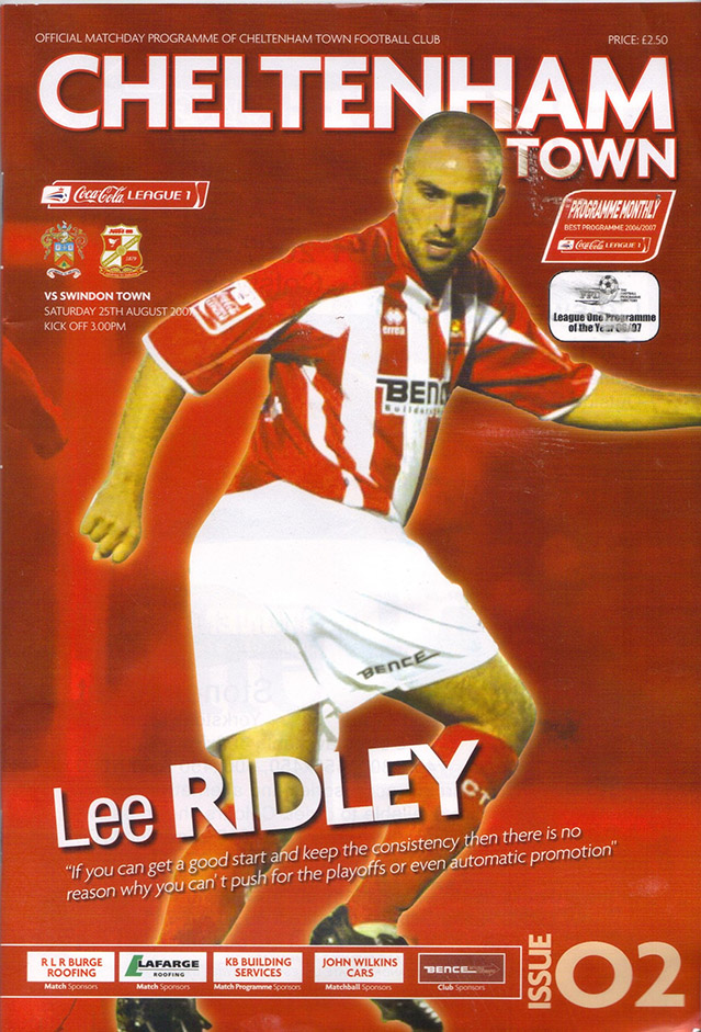 Saturday, August 25, 2007 - vs. Cheltenham Town (Away)