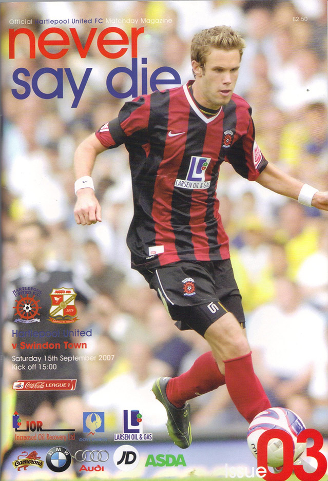 Saturday, September 15, 2007 - vs. Hartlepool United (Away)