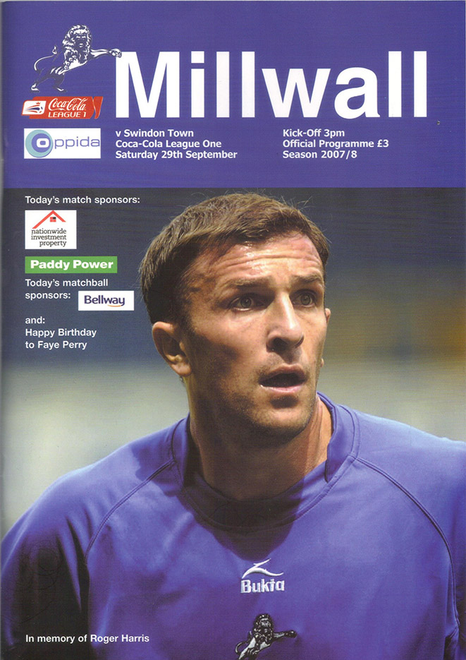Saturday, September 29, 2007 - vs. Millwall (Away)