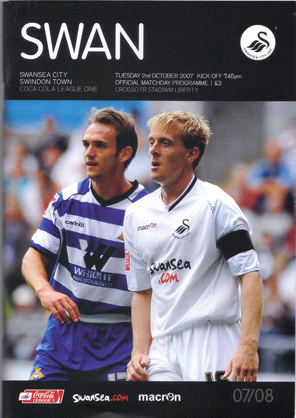 Tuesday, October 2, 2007 - vs. Swansea City (Away)