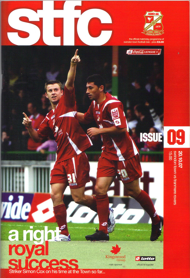 Saturday, October 20, 2007 - vs. Tranmere Rovers (Home)