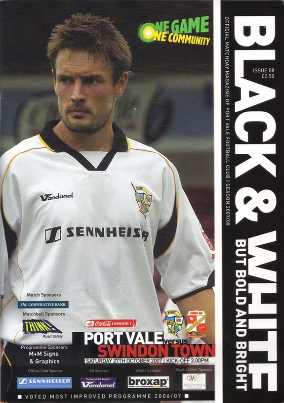 Saturday, October 27, 2007 - vs. Port Vale (Away)