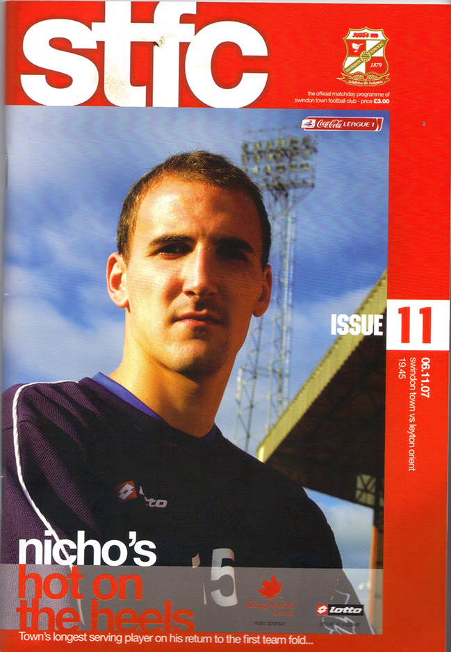 Tuesday, November 6, 2007 - vs. Leyton Orient (Home)