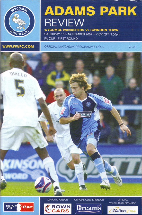 Saturday, November 10, 2007 - vs. Wycombe Wanderers (Away)