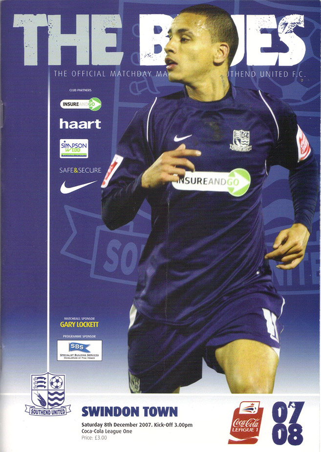 Saturday, December 8, 2007 - vs. Southend United (Away)
