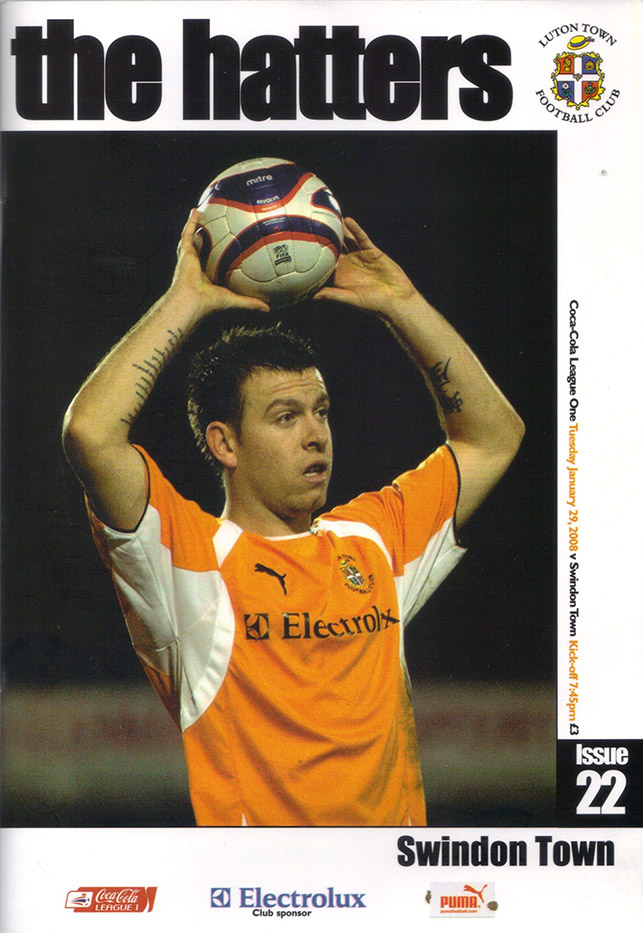 Tuesday, January 29, 2008 - vs. Luton Town (Away)