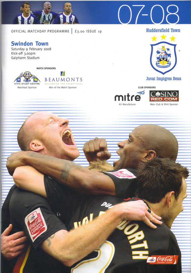 Saturday, February 9, 2008 - vs. Huddersfield Town (Away)