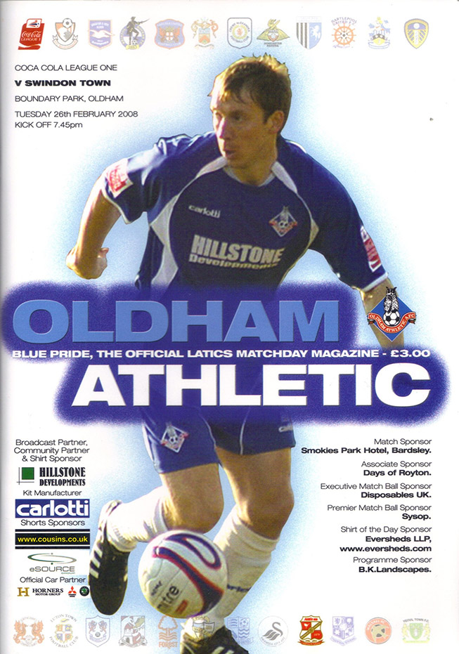 Tuesday, February 26, 2008 - vs. Oldham Athletic (Away)