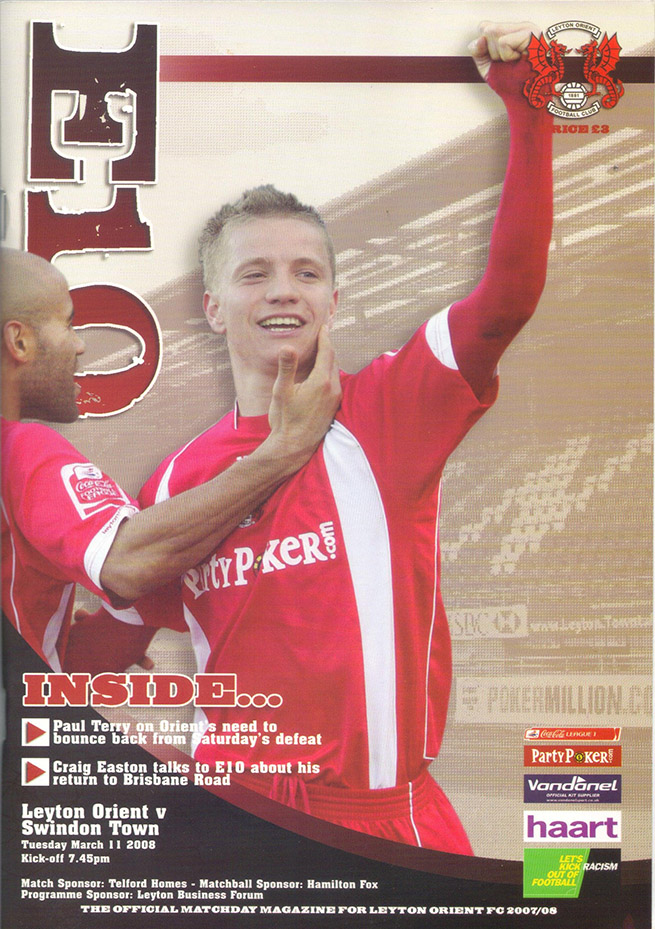 Tuesday, March 11, 2008 - vs. Leyton Orient (Away)