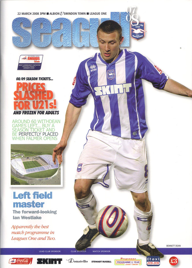 Saturday, March 22, 2008 - vs. Brighton and Hove Albion (Away)