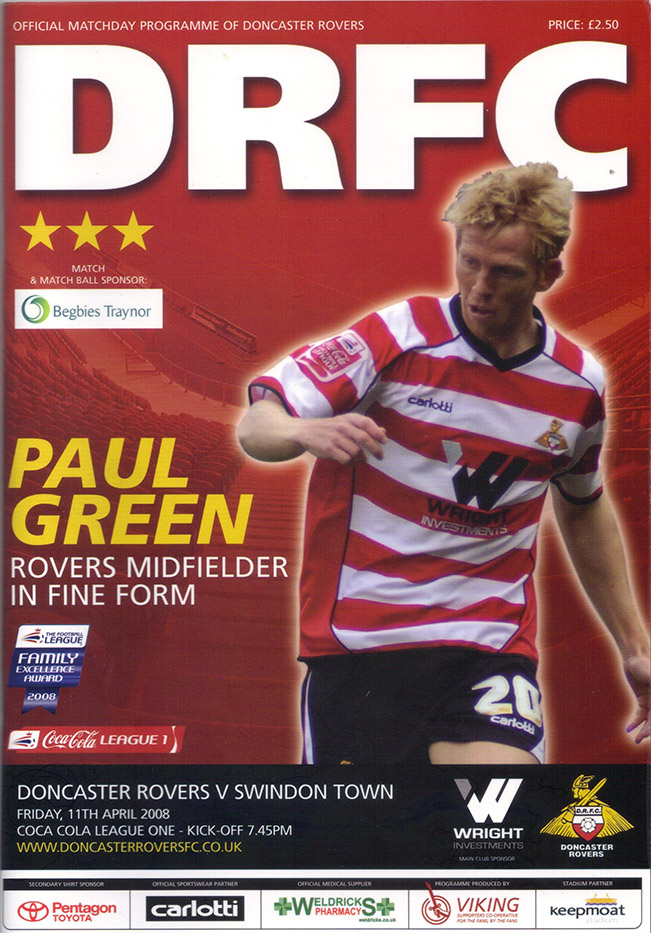 Friday, April 11, 2008 - vs. Doncaster Rovers (Away)