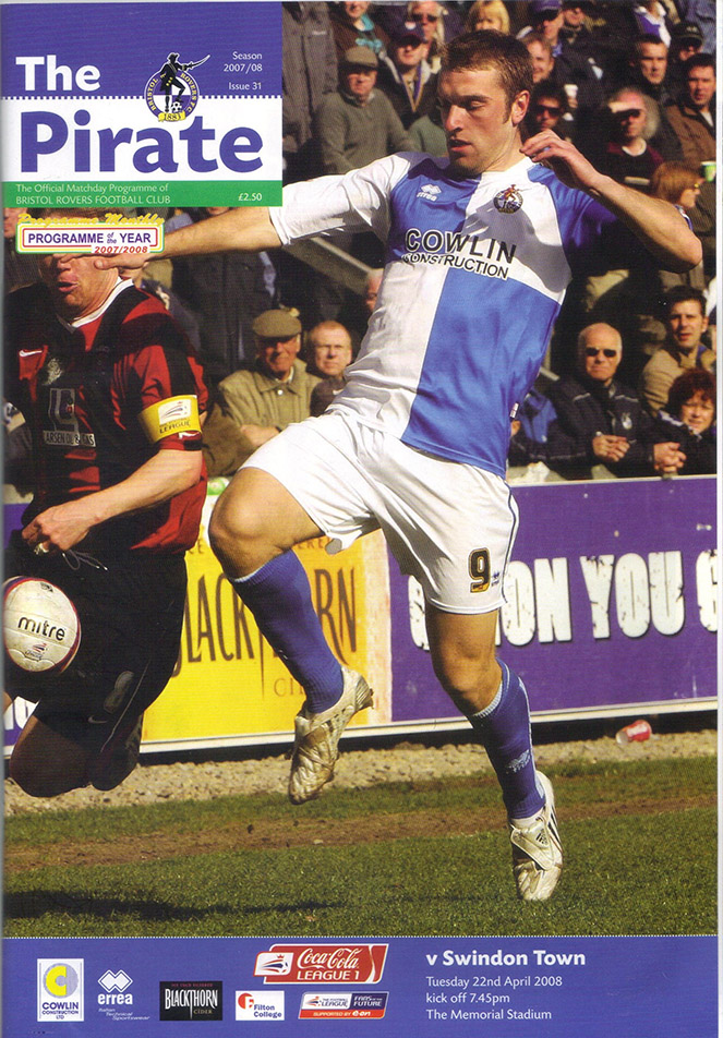 Tuesday, April 22, 2008 - vs. Bristol Rovers (Away)