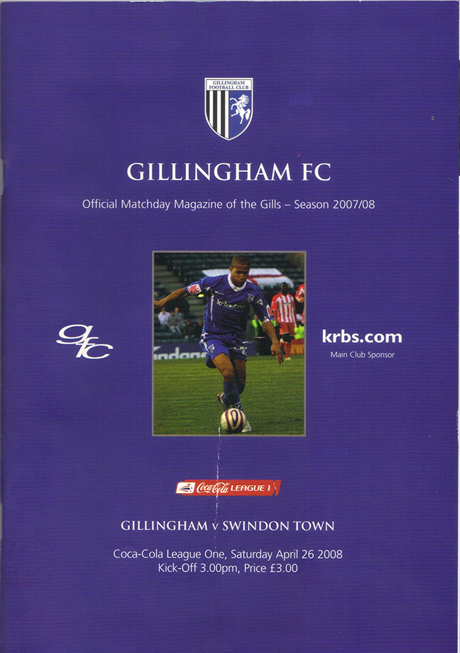 Saturday, April 26, 2008 - vs. Gillingham (Away)