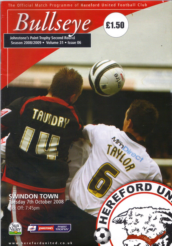 Tuesday, October 7, 2008 - vs. Hereford United (Away)