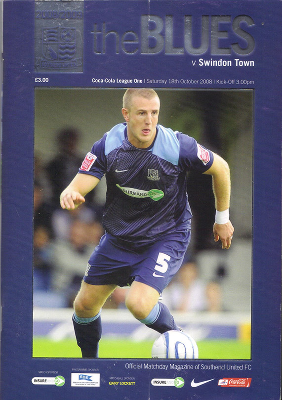 Saturday, October 18, 2008 - vs. Southend United (Away)