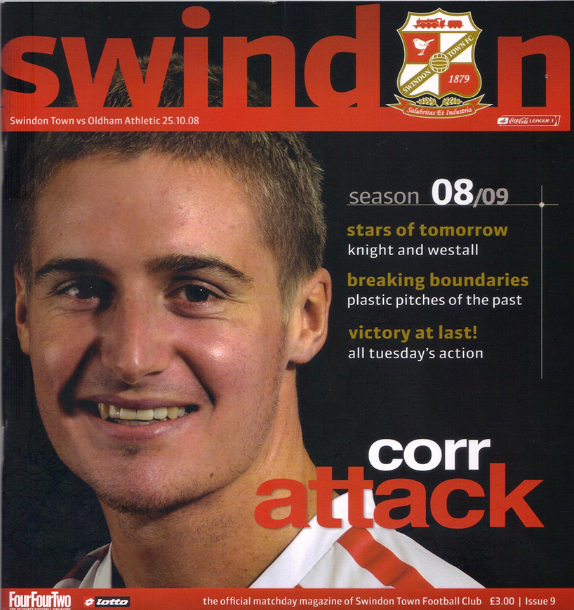 Saturday, October 25, 2008 - vs. Oldham Athletic (Home)