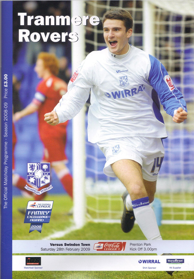 Saturday, February 28, 2009 - vs. Tranmere Rovers (Away)