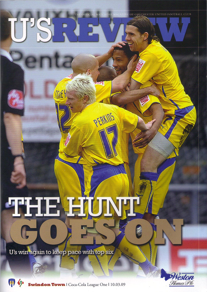 Tuesday, March 10, 2009 - vs. Colchester United (Away)