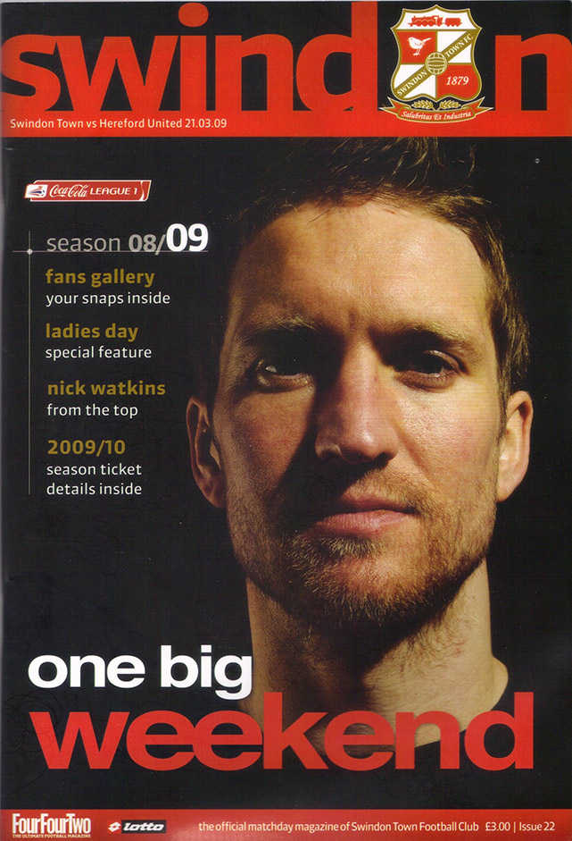 Saturday, March 21, 2009 - vs. Hereford United (Home)