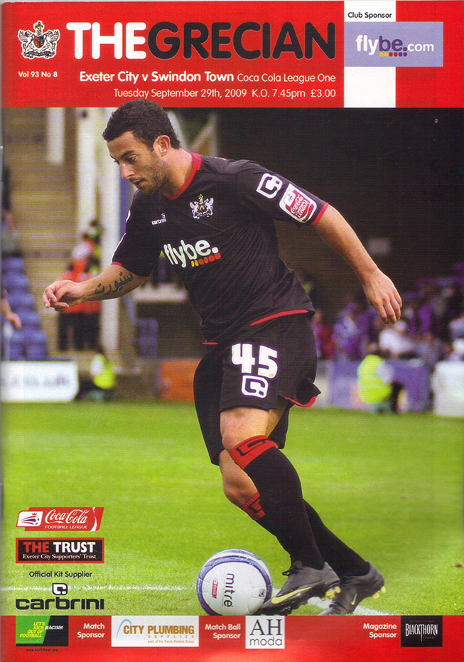 Tuesday, September 29, 2009 - vs. Exeter City (Away)