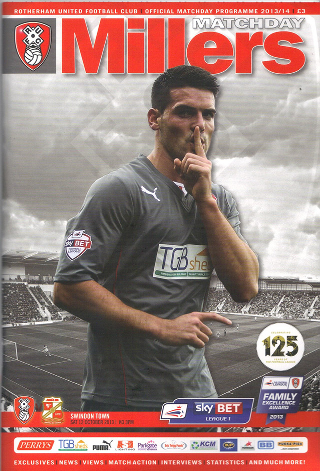 <b>Saturday, October 12, 2013</b><br />vs. Rotherham United (Away)